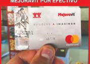 Cambio tu tarjeta mejoravit por efectivo