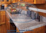 Barras para cocinas en granito natural gris claro
