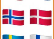Inglés, francés, alemán, italiano, noruego, etc