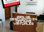 Te ofrecemos oficinas virtuales en alquiler