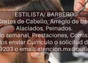 Estilista o barbero, contactarse.