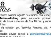 Agente telefonico experiencia en ventas