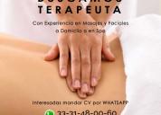 Terapeuta para spa | ofertas de empleo guadalajara