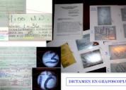 Peritajes en grafoscopía y dactiloscopía económico
