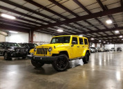 Jeep wrangler unlimited amarilla 2015
