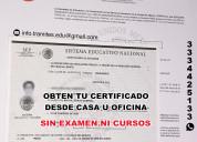 Certificado de preparatoria, titulo y cedula