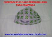 Tapabocas personalizados para campaÑas plisados