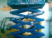Renta de plataforma de elevación tipo tijera