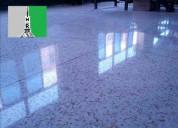 Pulido y cristalizado de terrazo