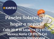 Paneles solares para hogar o negocio