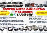 Compro autos camionetas y camiones nuevo leon