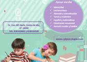 Apoyo escolar a preescolar, primaria y secunda