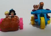 Carritos los picapiedra la pelicula set 2 personaj