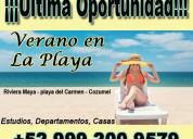 Departamentos en renta en riviera maya