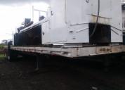 Semi remolque plataforma de 3 ejes 45 pies