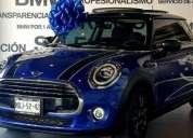 Mini cooper 2020 en color azul exterior y negro en interior, 3p chili l3 1.5 t aut.