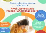 Cursos online para examen udg  2022 a