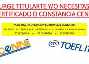Toefl itp, ibt no hay pago hasta obtener resultado