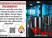 Torniquetes de control de accesos