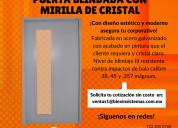 Puerta blindada con mirilla de cristal