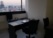 Oficinas amuebladas  col. roma