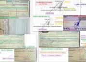 Peritajes en grafoscopia, documentoscopia y dactil