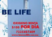 Concentrador de oxígeno renta a $100 por día