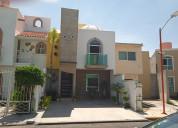 Renta de casa en el sol residencial amueblada